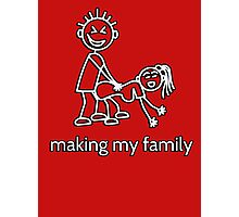 Stick Figure Family - making my family Photographic Print