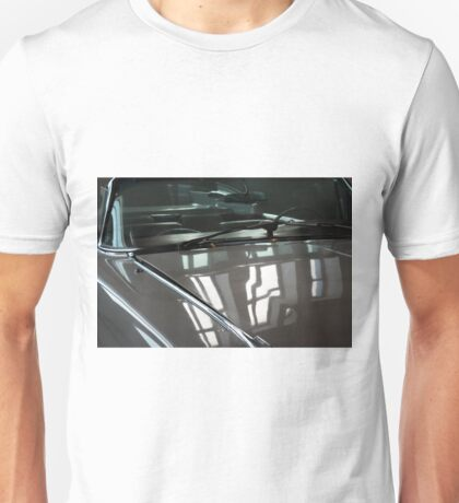Front side of gray vintage shining elegant car Unisex T-Shirt