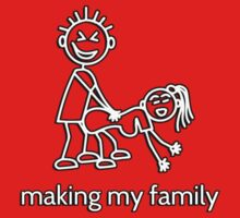 Stick Figure Family - making my family by bakery