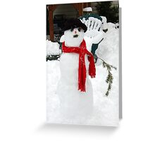 HO, HO, HO, ITS MR. SNOWMAN Greeting Card