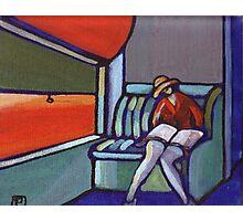 Night train (from my original acrylic painting) Photographic Print