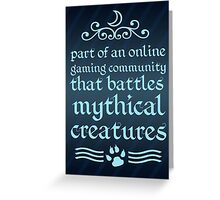 Mythical Creatures II Greeting Card