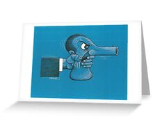 Weapon and Man Greeting Card