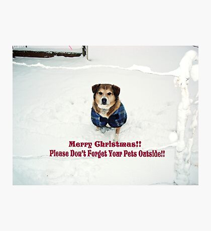 """Andy Says """"Please Don't Forget Your Pets Outside"""" Photographic Print"""