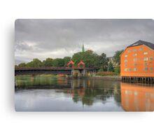 Trondheim - Gamle Bybro Canvas Print