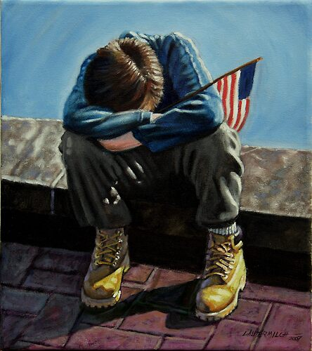 """Boy With Flag"" by John Lautermilch"