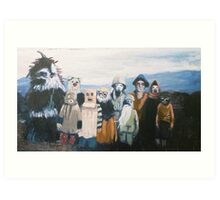 Hebrides Fancy Dress Art Print