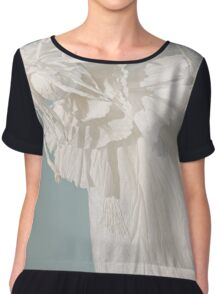 White Winged Angel Paper puppet Chiffon Top