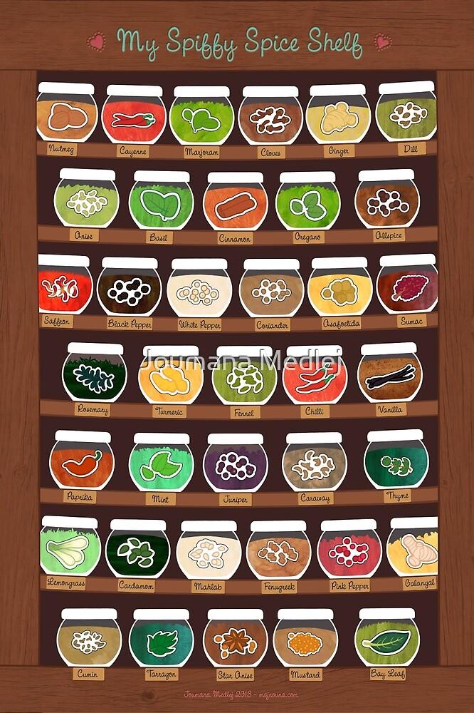 My Spiffy Spice Shelf by Joumana Medlej