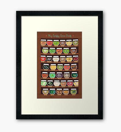 My Spiffy Spice Shelf Framed Print