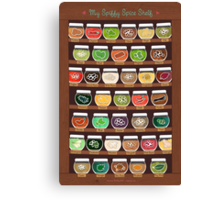 My Spiffy Spice Shelf Canvas Print