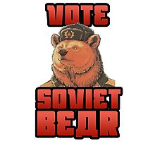 Vote for soviet bear Photographic Print