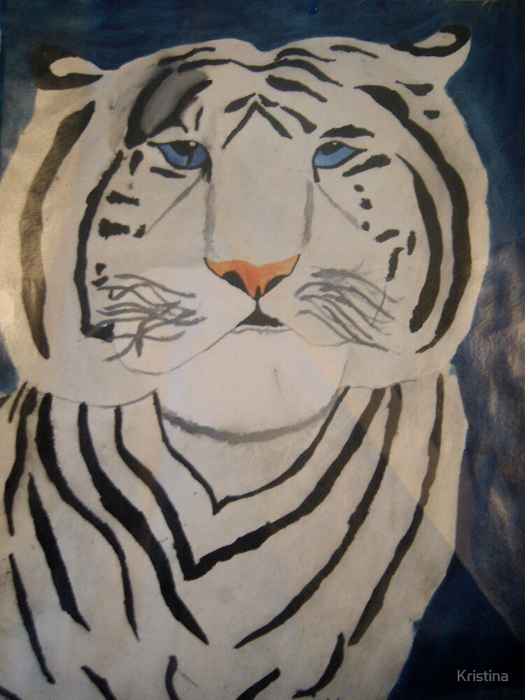tiger painting by Kristina