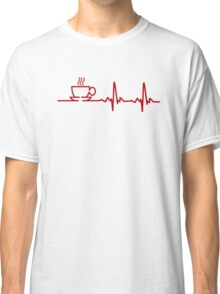 Morning Coffee Heartbeat EKG Classic T-Shirt