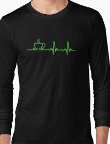 Morning Coffee Heartbeat EKG Long Sleeve T-Shirt
