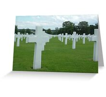 Belgium WWII Grave Yard1 Greeting Card