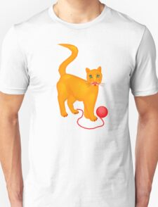 Cat With Yarn T-Shirt