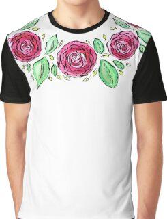 David Austin rose wreath Graphic T-Shirt