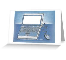 Book and computer Greeting Card