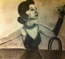 Charcoal drawing of Coco Chanel  by Melissa Goza