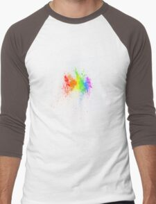 A splash of colour... Men's Baseball ¾ T-Shirt