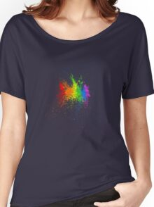 A splash of colour... Women's Relaxed Fit T-Shirt