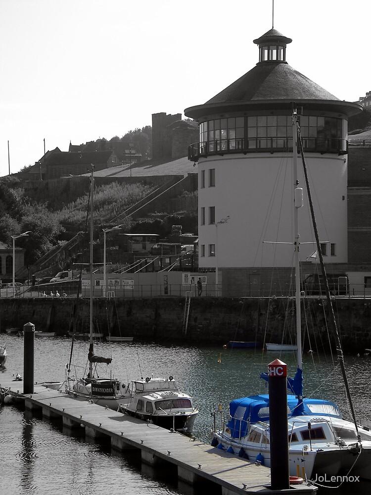 Blue Boat & Beacon by JoLennox