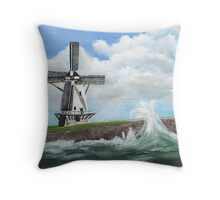 WindMill at stormy weather ..............kj's way.............. Throw Pillow