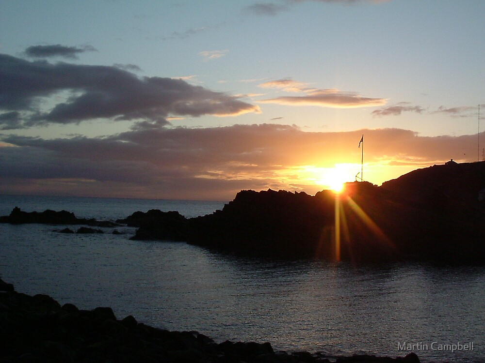 Portpatrick Sunset by Martin Campbell