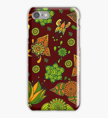colorful flowers pattern iPhone Case/Skin