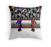 Hockey Fight 1 Throw Pillow