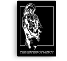 The Sisters Of Mercy - The Worlds End - Back - Black and White Canvas Print