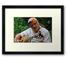 TRYING TO FIND THE RIGHT NOTE Framed Print