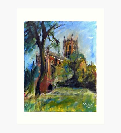Worcester Cathedral Art Print
