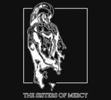 The Sisters Of Mercy - The Worlds End - Back - Black and White by createdezign