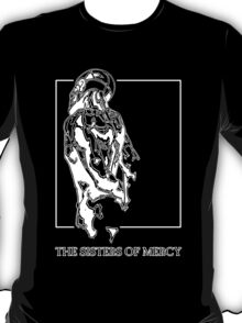 The Sisters Of Mercy - The Worlds End - Back - Black and White T-Shirt