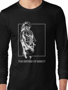 The Sisters Of Mercy - The Worlds End - Back - Black and White Long Sleeve T-Shirt