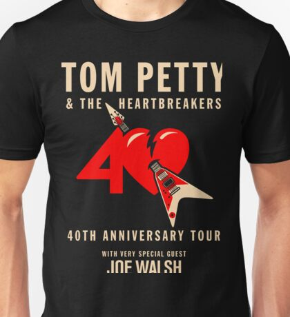 Tom Petty with Special Guest 40th Anniversary Tour 2017 ADR03 Unisex T-Shirt