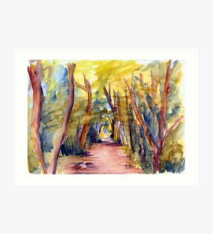 Woodland Walk Art Print
