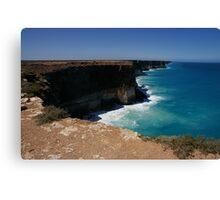 Bunda Cliffs, Great Australian Bight, South Australia Canvas Print