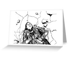 Hulk Smash Loki Greeting Card
