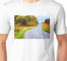 Autumn countryside road  Unisex T-Shirt