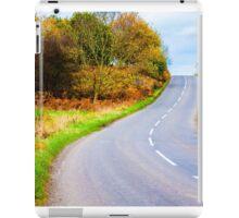 Autumn countryside road  iPad Case/Skin