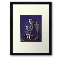 The babysitter (from my original acrylic painting) Framed Print