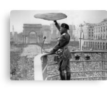 Pizza Mussolini Pizzeria Toss Slice Italy Italian Canvas Print
