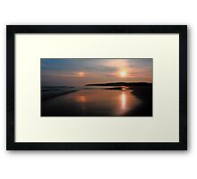 Sundog On The Strand Framed Print