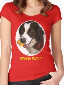 Wanna Play? Women's Fitted Scoop T-Shirt