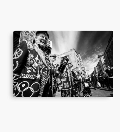 Pearly Kings and Queens of London Hoxton Brick Lane Canvas Print