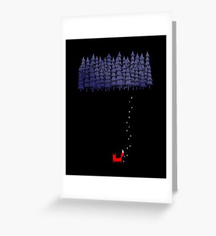 Alone In The Forest Greeting Card
