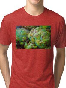 Closeup on Fresh green artichokes in the market, organic vegetables background Tri-blend T-Shirt